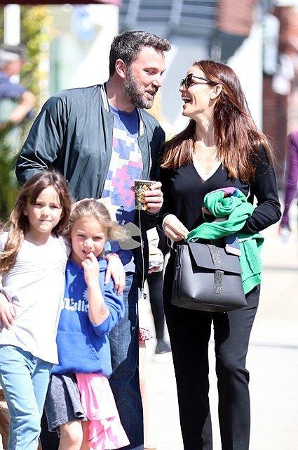 Jennifer Garner and Ben Affleck get close during their Sunday church outing