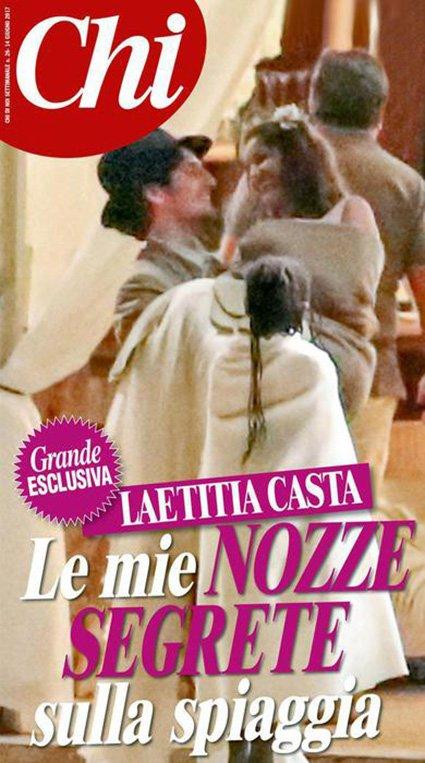 Nozze segrete Laetitia Casta - Louis Garrell