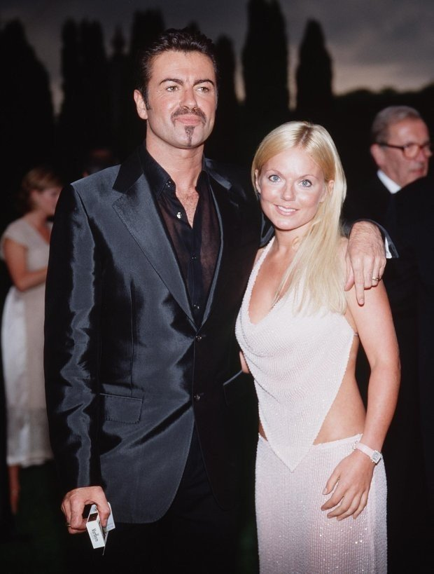 George Michael And Geri Halliwell At The White Tie And Tiara Ball