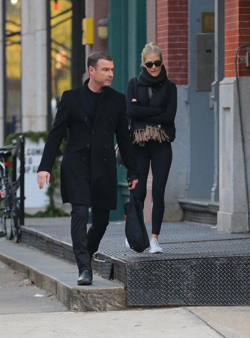 EXCLUSIVE: Liev Schreiber is Spotted Out With Taylor Neisen, Former Miss South Dakota in New York City.