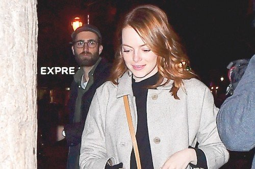 Emma Stone Heads To Dinner With Boyfriend Dave McCary After SNL Rehearsals In NYC