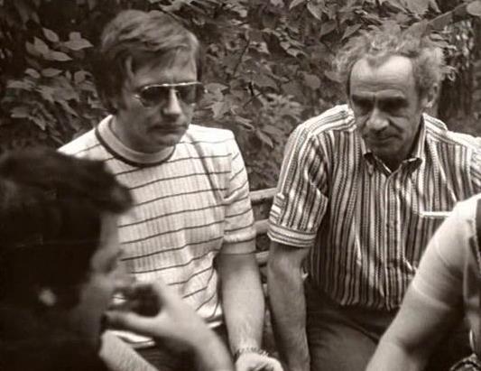 Андрей Миронов и Зиновий Гердт на отдыхе в Ватутинках