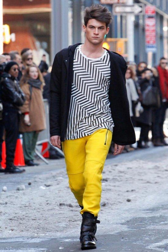 Городская мода для парней 2012 осень.