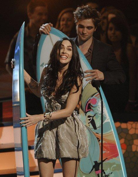 Меган Фокс и Роберт Паттинсон на Teen Choice Awards