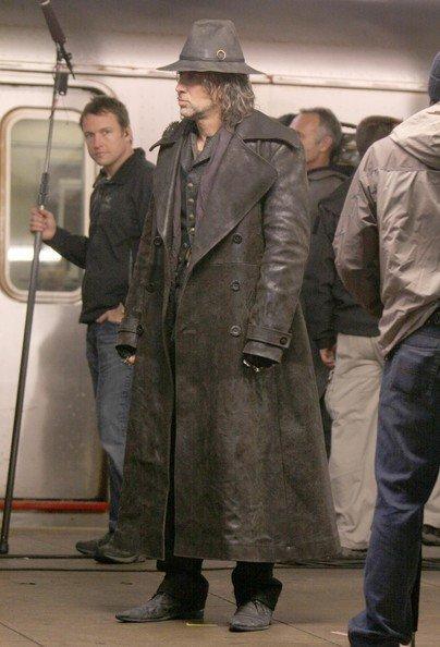 Николас Кейдж на съемках фильма