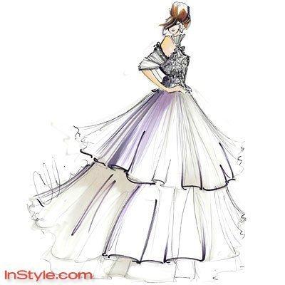 рисунки платьев: