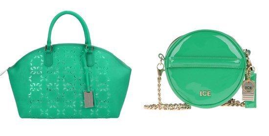 Модные сумки зеленого цвета.