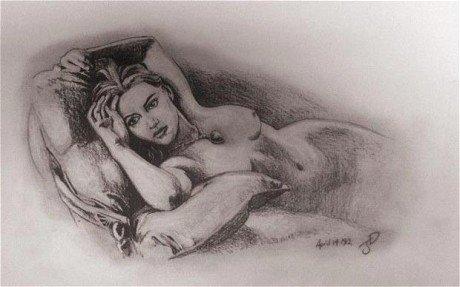 рисунки голых карандашом