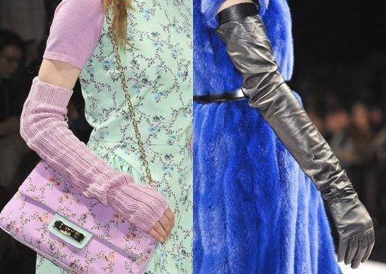 Модные аксессуары перчатки