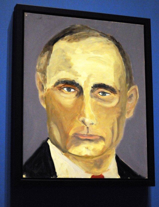 Джордж Буш открыл свою художественную выставку