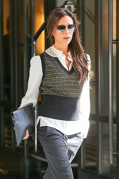Victoria Beckham leaves her hotel in NYC looking Business Chic