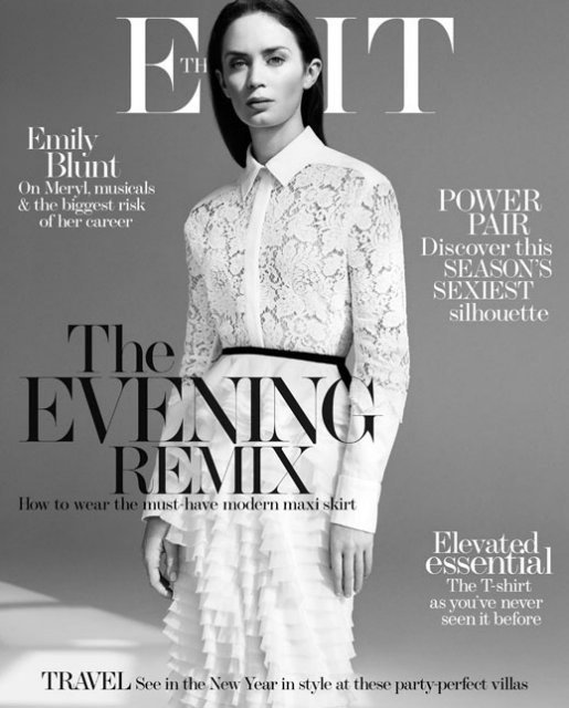 "Эмили Блант на страницах журнала ""The Edit"""
