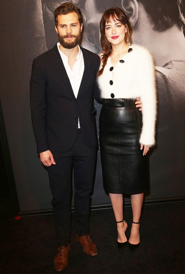 Celebrity arrivals at the 'Fifty Shades of Grey' Premiere in NYC