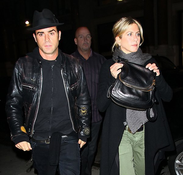 Jennifer Aniston and Justin Theroux go to dinner at Craft in NYC
