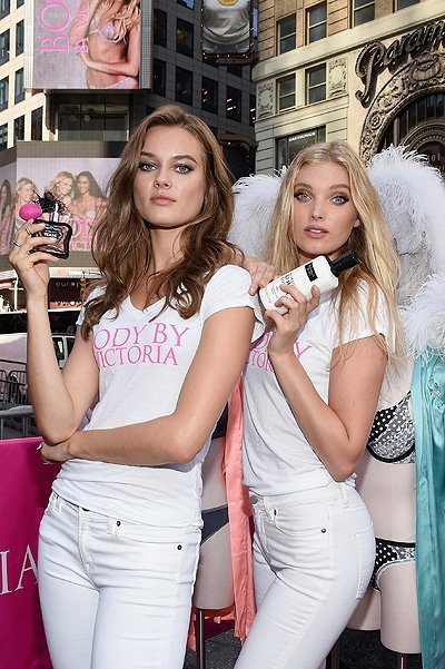 The Newest Victoria's Secret Angels Launch The All New Body By Victoria Campaign In Times Square