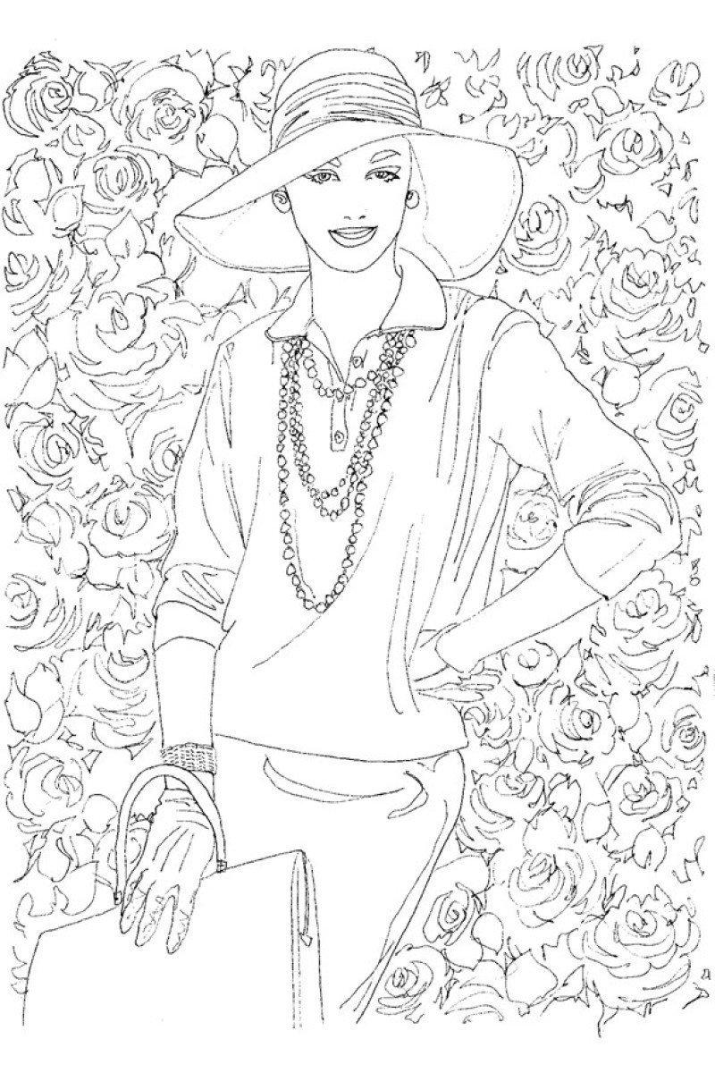 Раскраски для взрослых девочек - 3
