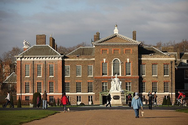 LONDON, ENGLAND - MARCH 20:  An exterior view of Kensington Palace featuring the refurbished statue of Queen Victoria, which was designed by her daughter Princess Louise, on March 20, 2012 in London, England. Kensington Palace is due to reopen to the public on March 26, 2012 following a 12 million GBP renovation project. The refurbishment has seen the renovation of the King and Queen's state apartments, a display of dresses worn by Diana, Princess of Wales and an exhibition charting the life of Queen Victoria.  (Photo by Oli Scarff/Getty Images)
