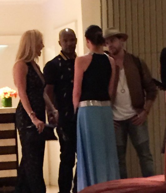 EXCLUSIVE: **PREMIUM EXCLUSIVE RATES APPLY**Where's Katie? Jamie Foxx caught holding hands with mystery blonde