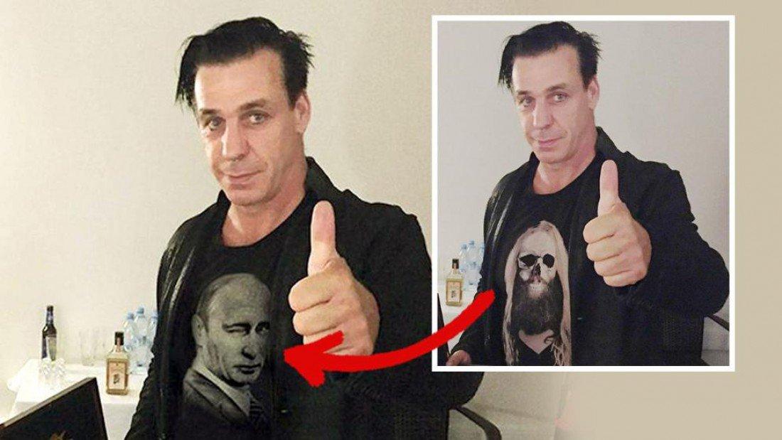 Лидер Rammstein идет всуд из-за снимков сПутиным