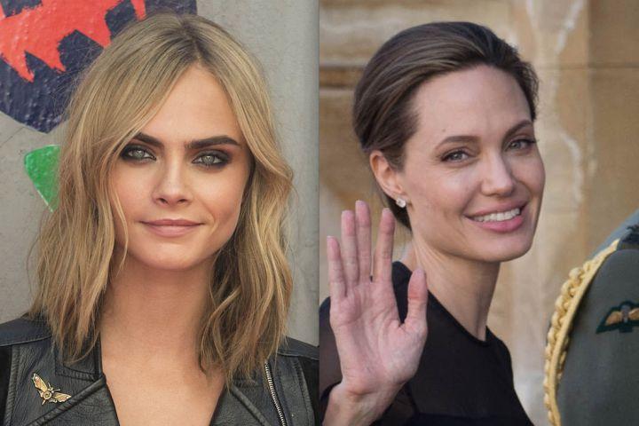 «Женщина-герой»: Кара Делевинь намекнула налюбовь кАнджелине Джоли