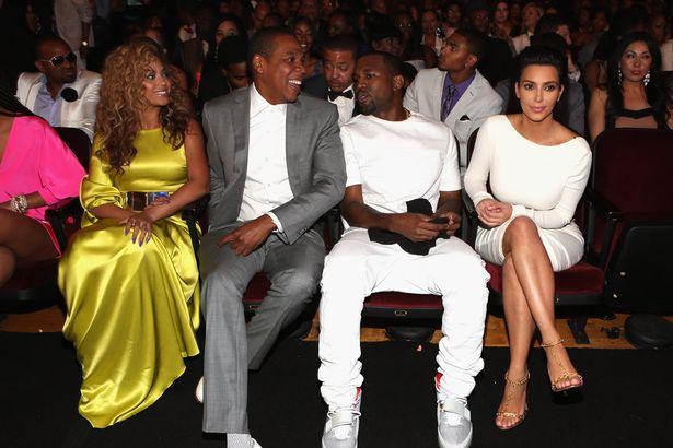 Beyonce-Jay-Z-Kanye-West-and-Kim-Kardashian