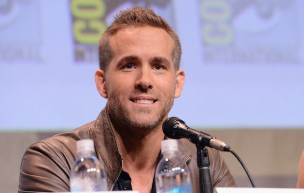 SAN DIEGO, CA - JULY 11:  Actor Ryan Reynolds of 'Deadpool' speaks onstage at the 20th Century FOX panel during Comic-Con International 2015 at the San Diego Convention Center on July 11, 2015 in San Diego, California.  (Photo by Albert L. Ortega/Getty Images)