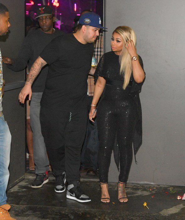 ATLANTA, GA - MARCH 27:  Rob Kardashian and Blac Chyna at Onyx Nightclub on March 27, 2016 in Atlanta, Georgia.  (Photo by Prince Williams/WireImage)