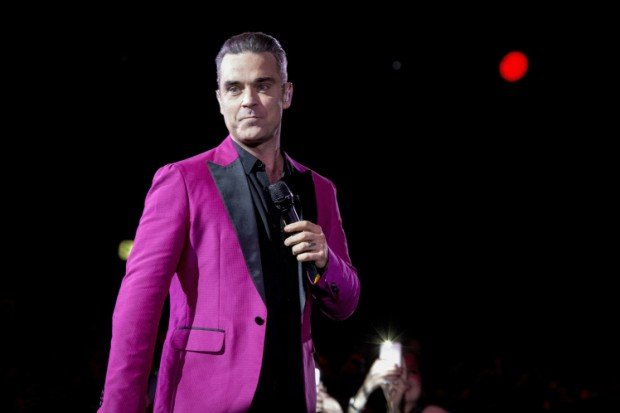 The english singer and song-writer Robbie Williams pictured