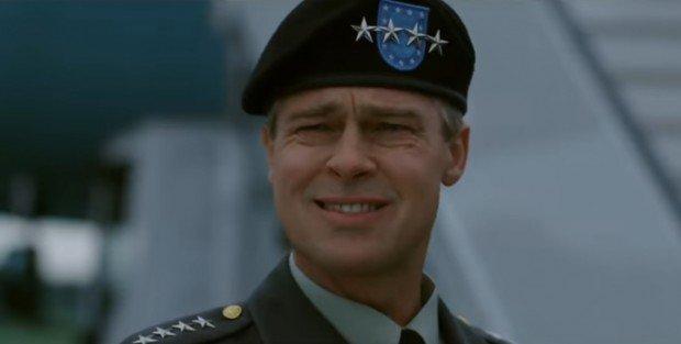 Брэд Питт появился в образе седого генерала в первом трейлере комедии «Машина войны»