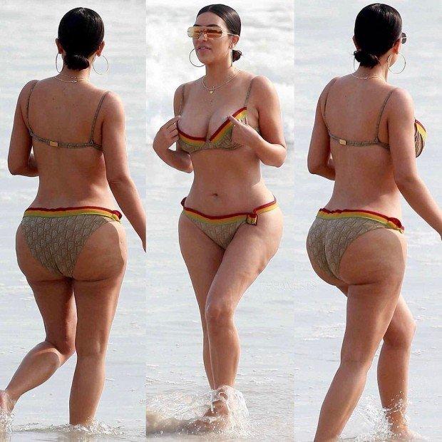 В Сеть попали фото Ким Кардашьян без ретуши. Что она скажет по этому поводу?
