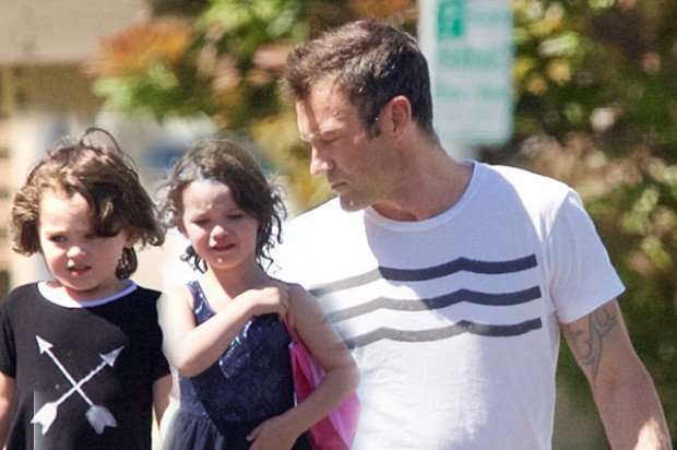 EXCLUSIVE: Brian Austin Green took his daughter a birthday party in Calabassas.