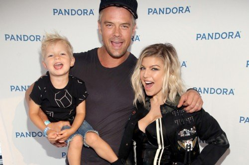 LOS ANGELES, CA - AUGUST 13:  (L-R) Axl Jack Duhamel, actor Josh Duhamel, and singer Fergie attend Pandora Summer Crush at LA Live on August 13, 2016 in Los Angeles, California.  (Photo by Jonathan Leibson/Getty Images for Pandora Media Inc)
