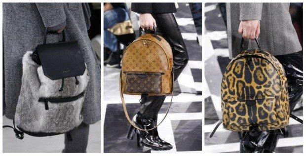 Модные кожанные рюкзаки