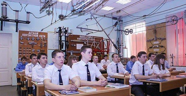 Студенты техникума