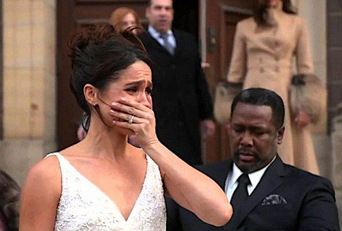 "Meghan Markle wears wedding dress in an old episode of TV show ""Suits"""