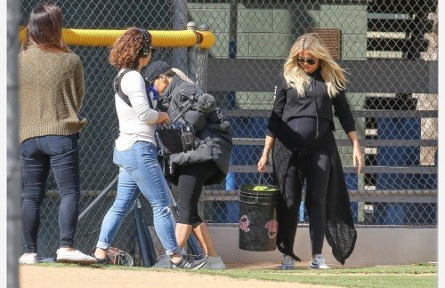 *EXCLUSIVE* The Kardashian girls try their hand at softball!