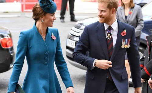 The Duchess Of Cambridge And Prince Harry Attend The ANZAC Day Commemorative Service At Westminster Abbey