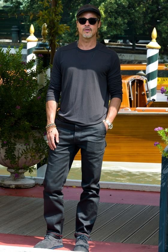 VENICE, ITALY - AUGUST 29: Brad Pitt is seen arriving at the 76th Venice Film Festival on August 29, 2019 in Venice, Italy. (photo by Rocco Spaziani/Archivio Rocco Spaziani/Mondadori Portfolio via Getty Images)