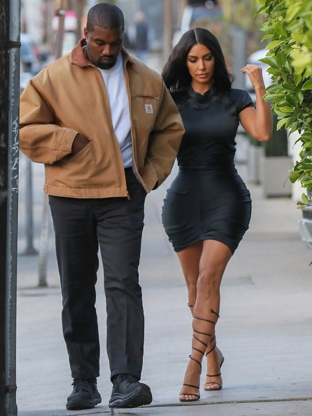*EXCLUSIVE* Kim Kardashian and Kanye West go out to dinner at Giorgio Baldi