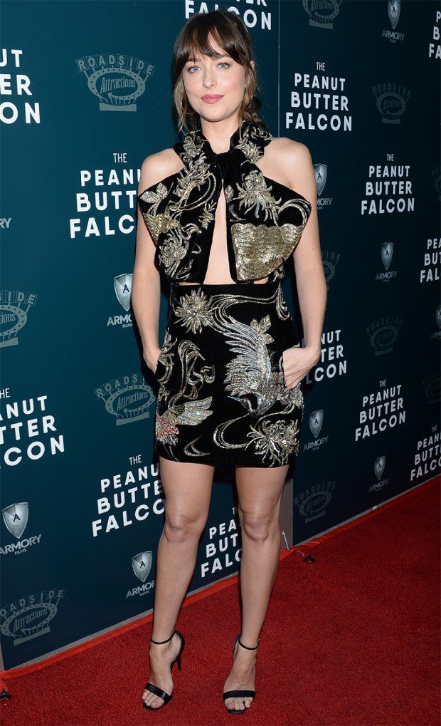 Mandatory Credit: Photo by Broadimage/Shutterstock (10352502al) Dakota Johnson 'The Peanut Butter Falcon' Film Screening, Arrivals, ArcLight Cinemas, Los Angeles, USA - 01 Aug 2019