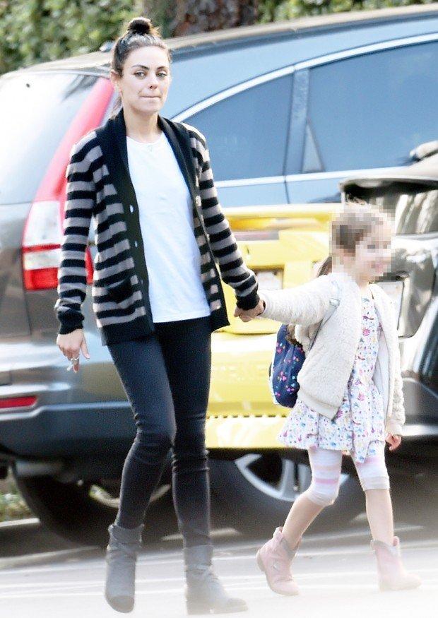 EXCLUSIVE: Mila Kunis and Wyatt hold hands running errands together