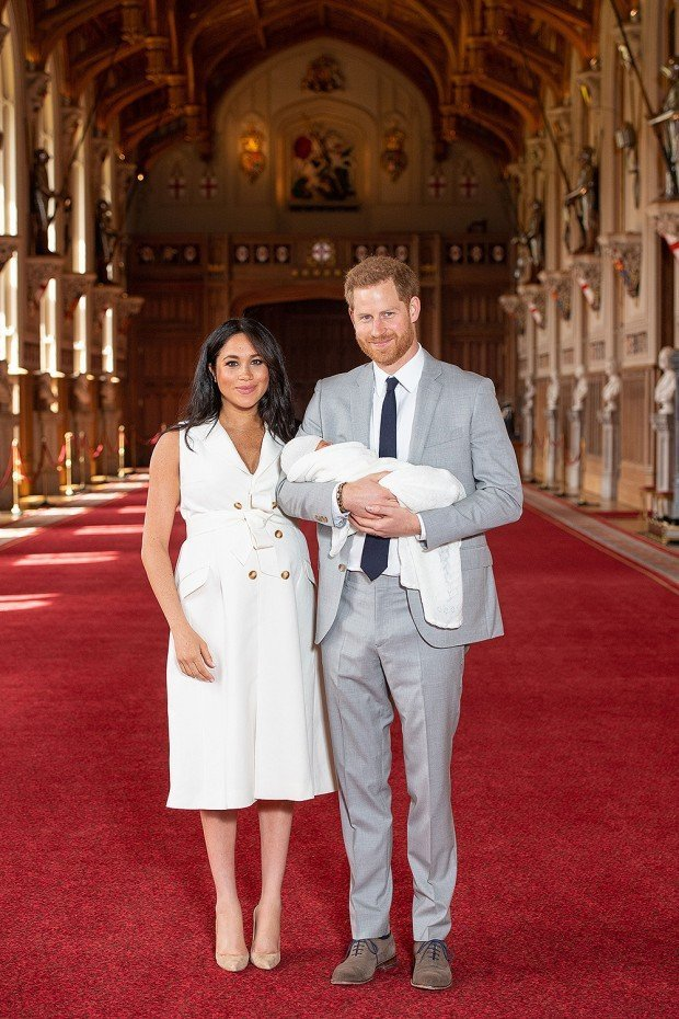 Prince Harry and Meghan Duchess of Sussex new Baby Photocall, Windsor Castle, UK - 08 May 2019